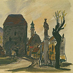 1947 from the Viennese sketches. B., gouache, wc. 15x20, 5 MHS, Alexander Deyneka