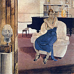 1936 boredom. Canvas, tempera. 88x100 Private Collection, Alexander Deyneka