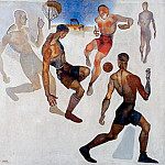 1924 Football. Oil on canvas Location unknown, Alexander Deyneka