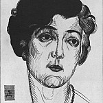 Alexander Deyneka - 1922 Portrait of a Woman. BA, that is, pen. 22, 2x17 MHS