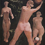 1932 Game of the ball. H., M. 123x123 GTG, Alexander Deyneka