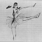 Alexander Deyneka - 1926 Dancer. B., ink. 10, 7x15, 3 MHS