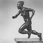 1947 hundred meters. Bronze. 56x42x22 TG, Alexander Deyneka