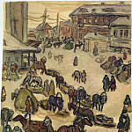 Alexander Deyneka - Winter 1916 in Kursk. B., wc. 25h20, 8 MHS