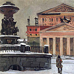 Alexander Deyneka - 1941 Sverdlov Square in December of the year. H. m. 40x60 disaster