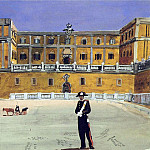 Alexander Deyneka - 1935 Square in Rome. B., wc. , Gouache, ink, pen. 37, 8h53, 5 GTG