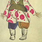 1920 theatrical costume sketch. B., wc. 24x17, 5 MHS, Alexander Deyneka