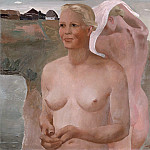 Alexander Deyneka - 1933 bathing girl. Oil on canvas. 99, 3x 102, 7 TG