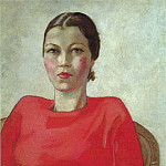 Alexander Deyneka - 1939 The Woman in Red. H., M. 64h54 Yerevan