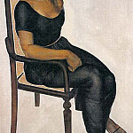 1924 Girl on a chair., Alexander Deyneka