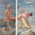 1959-60 A good morning. Mosaic. 200х300 TG, Alexander Deyneka