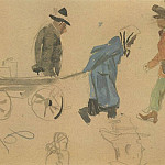 Alexander Deyneka - 1947 from the Viennese sketches. B., gouache, wc. 11, 5x16, 5 MHS