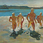 Alexander Deyneka - 1930-35 Boys ran out of water. K., m. 42, 5h64, 7 ES