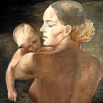 1932 Mother. H., M. 120x159 GTG, Alexander Deyneka