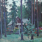 1952 Evening at the cottage. H., M. 100x137, 5 Kursk, Alexander Deyneka
