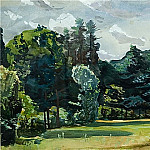 Alexander Deyneka - 1935 Park. Watercolor. 34x54