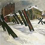 1941 Outskirts of Moscow. November of the year. H., M. 92x136 TG, Alexander Deyneka
