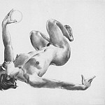 Alexander Deyneka - 1954 lying with the ball. B., sanguine. 79, 5x100, 5 GTG