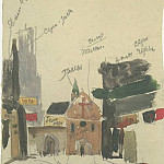1947 from the Viennese sketches. B., gouache, wc. 24x15, 5 MHS, Alexander Deyneka