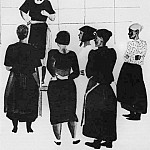 1925 in manufacturing. The womens collection. Fig. to train. Atheist at the bench., Alexander Deyneka
