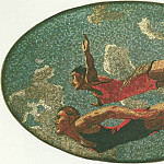 1938 mosaic art. m Mayakovsky. 02 jump in the water., Alexander Deyneka
