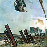Alexander Deyneka - 1943 Knocked down ace. Oil on canvas. 283x188 Moose. the CD. AURORA, St. Petersburg