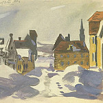 1947 from the Viennese sketches. B., gouache, wc. 15, 3x20, 3 MHS, Alexander Deyneka