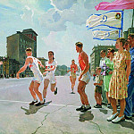 Alexander Deyneka - 1947 Relay on the ring B. H., M. 199x299 GTG
