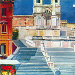 1935 Rome. Area of Spain. Gouache. MHS, Alexander Deyneka