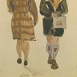 1947 from the Viennese sketches. B., gouache, wc. 20x15 MHS, Alexander Deyneka