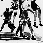 1927 Football. Fig. to train. Krasnaya Niva. B., wc. , Ink. 32, 2h21, 5 GTG, Alexander Deyneka