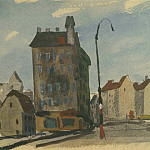 1947 from the Viennese sketches. B., gouache, wc. 15x21 MHS, Alexander Deyneka