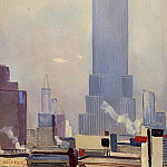 Alexander Deyneka - 1935 New York. Manhattan. Canvas, tempera. 22 x 15 RM