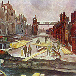 Alexander Deyneka - 1945 Berlin. Bridge-builder. B., wc. . 38h46, 5 Kursk