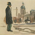 1947 from the Viennese sketches. B., gouache, wc. 14x21 MHS, Alexander Deyneka
