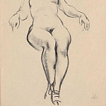 1943 Seated nude. Fig., Alexander Deyneka