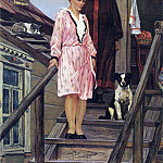 1954s mother and sister. H., M. 154x119 Kursk, Alexander Deyneka