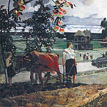 1944 going to war. H., M. 200х300. GRM, Alexander Deyneka