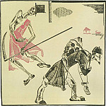 1922 Fig. by Ivan Krylovs fable The Peasant and death. Color. avtolitogr. 17, 2x16, 6 RM, Alexander Deyneka