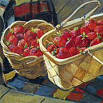 1955 Still Life. Strawberry. H., M. 48h62 ES, Alexander Deyneka