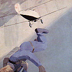 1934 jumper over the sea. H., M. Frunze, 174x122, Alexander Deyneka