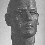 1940 Head of the athlete. Aluminium. 39h24h30 MHS, Alexander Deyneka