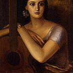 Woman with a Guitar, Julio Romero de Torres