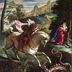 Tintoretto. St. George, part 11 Hermitage