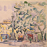 Signac, Paul. Area of Town Hall in Aix-en-Provence, part 11 Hermitage