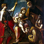 Tiarini, Alessandro. The Holy Family with St. Francis of Assisi, the Archangel Michael and St John the Baptist, part 11 Hermitage
