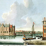 Tayler, Johannes. View of the river Amstel, part 11 Hermitage
