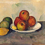 Cezanne, Paul. Still Life with Apples, part 11 Hermitage