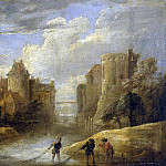 Teniers, David the Younger. Landscape with fishermen, part 11 Hermitage