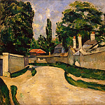 Cezanne, Paul. Houses along the road, Paul Cezanne
